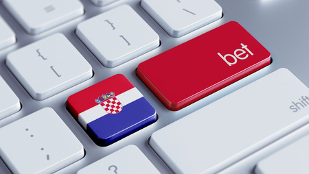 bet: Croatia  High Resolution Bet Concept Stock Photo