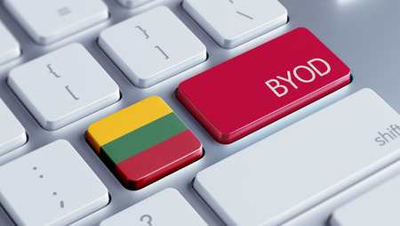 Lithuania High Resolution Byod Concept Stock Photo - 28740159