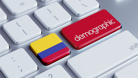 demographic: Colombia High Resolution Demographic Concept Stock Photo