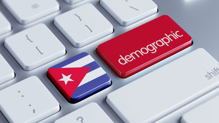 demographic: Cuba High Resolution Demographic Concept Stock Photo