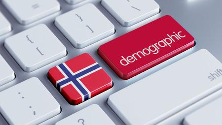 demographic: Norvegia Alta Risoluzione demografica Concetto