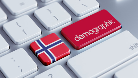 Norway High Resolution Demographic Concept Stock Photo