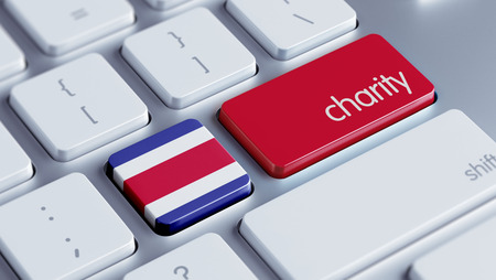 costa rican flag: Costa Rica  High Resolution Charity Concept