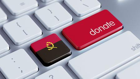 angola: Angola High Resolution Donate Concept Stock Photo