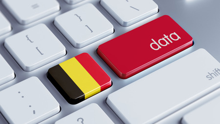 Belgium High Resolution Data Concept photo