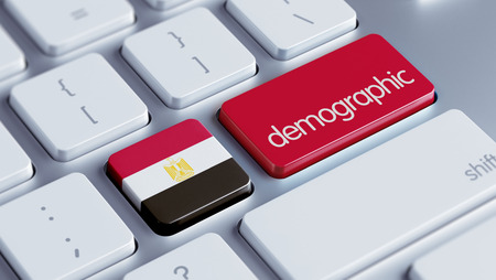 demographic: Egypt High Resolution Demographic Concept Stock Photo