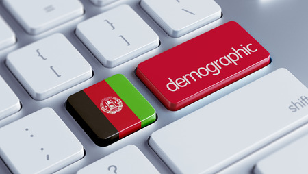demographic: Afghanistan  High Resolution Demographic Concept Stock Photo