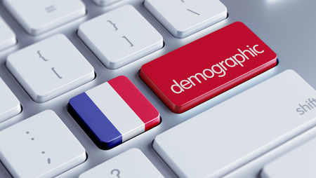 demographic: France High Resolution Demographic Concept Stock Photo