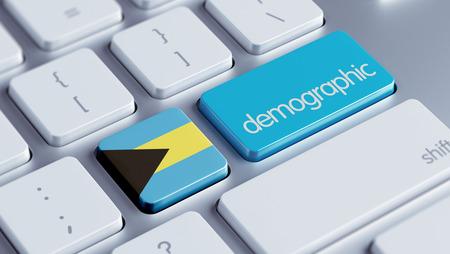 demographic: Bahamas alta risoluzione demografici Concetto