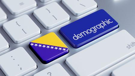 demographic: Bosnia-Erzegovina ad alta risoluzione demografica Concetto