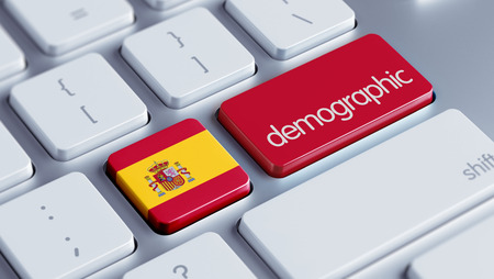 demographic: Spain High Resolution Demographic Concept