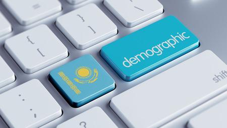 kazakhstan: Kazakhstan High Resolution Demographic Concept Stock Photo