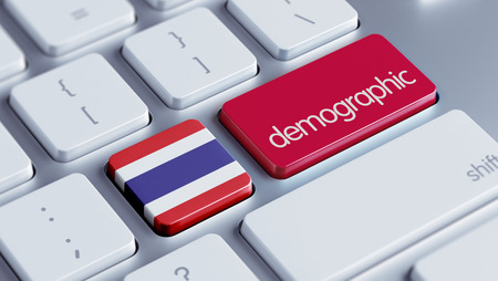 demographic: Thailand High Resolution Demographic Concept Stock Photo