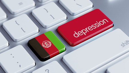 collapsing: Afghanistan  High Resolution Depression Concept