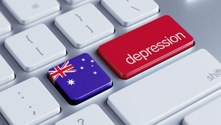 collapsing: Australia High Resolution Depression Concept