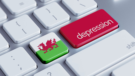 collapsing: Wales High Resolution Depression Concept