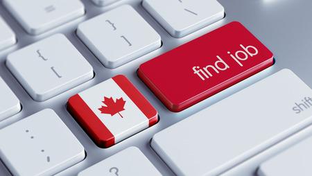 Canada High Resolution Find Job Concept