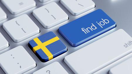 sweden flag: Sweden High Resolution Find Job Concept Stock Photo