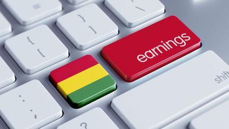 earnings: Bolivia High Resolution Earnings Concept