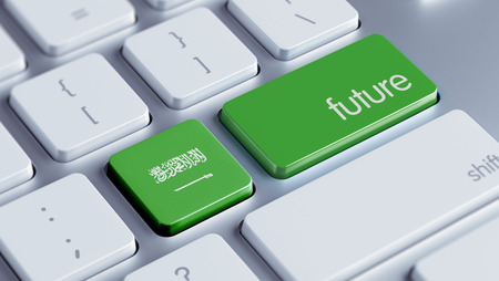 Saudi Arabia High Resolution Future Concept Stock Photo