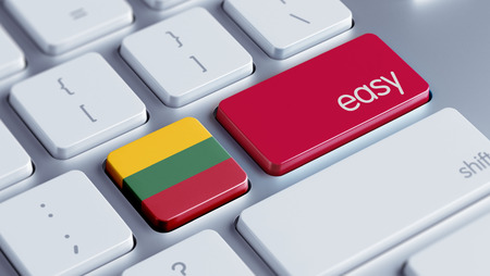 lithuania: Lithuania High Resolution Easy Concept