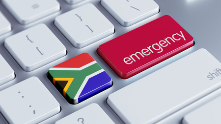 South Africa High Resolution Emergency Concept photo