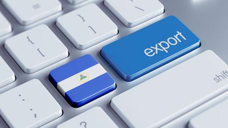 Nicaragua High Resolution Export Concept Stock Photo - 28813290