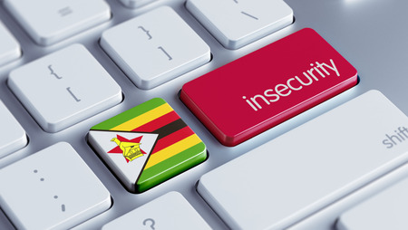 insecurity: Zimbabwe High Resolution Insecurity Concept Stock Photo