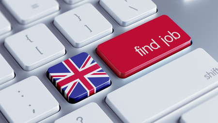 United Kingdom High Resolution Find Job Concept