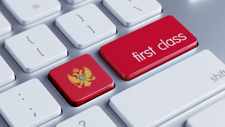 optimum: Montenegro  High Resolution First Class Concept Stock Photo