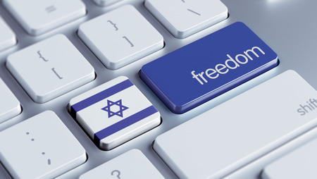 Israel High Resolution Freedom Concept photo