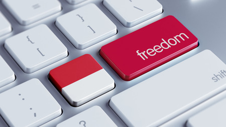 Indonesia High Resolution Freedom Concept Stock Photo