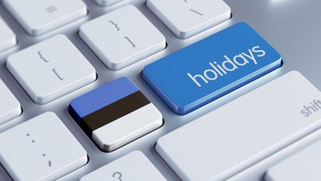 Estonia High Resolution Holidays Concept