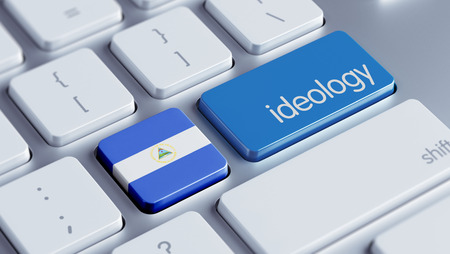 ideology: Nicaragua High Resolution Ideology Concept Stock Photo