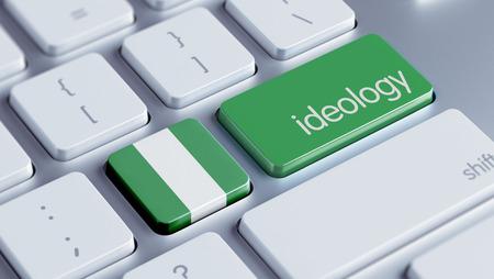 ideology: Nigeria  High Resolution Ideology Concept