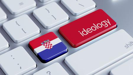 ideology: Croatia  High Resolution Ideology Concept