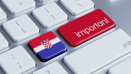 weighty: Croatia  High Resolution Important Concept Stock Photo