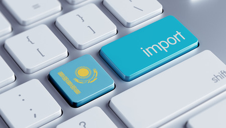 Kazakhstan High Resolution Import Concept Stock Photo - 28839014