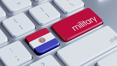 major force: Paraguay High Resolution Military Concept Stock Photo