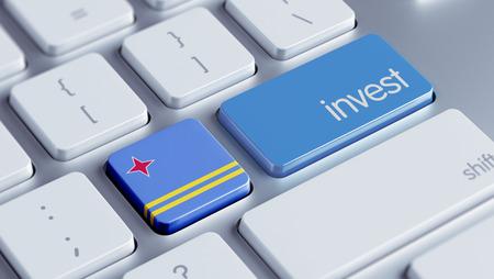 strategist: Aruba High Resolution Invest Concept Stock Photo