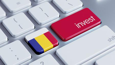 strategist: Romania High Resolution Invest Concept Stock Photo