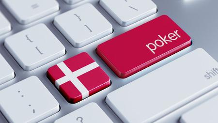 roulette online: Denmark High Resolution Poker Concept Stock Photo
