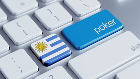 american roulette: Uruguay High Resolution Poker Concept Stock Photo