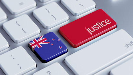 new zealand word: New Zealand High Resolution Justice Concept
