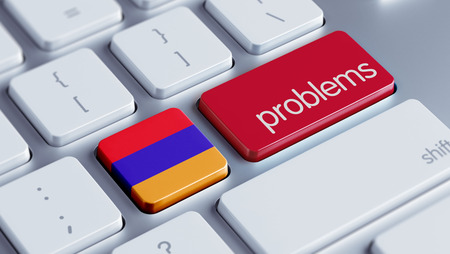 rectify: Armenia High Resolution Problems Concept Stock Photo