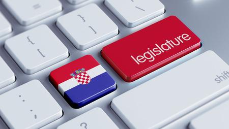 legislature: Croatia  High Resolution Legislature Concept Stock Photo