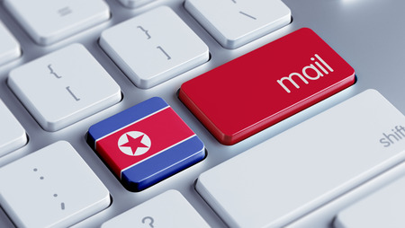North Korea High Resolution Mail Concept photo
