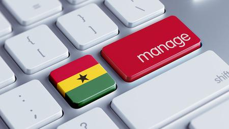 Ghana High Resolution Manage Concept photo