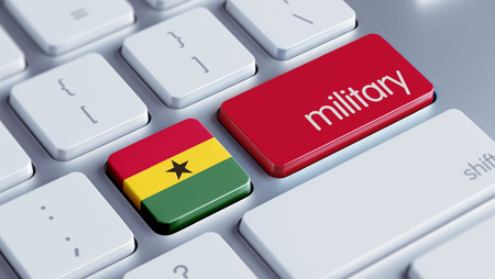 major force: Ghana High Resolution Military Concept Stock Photo