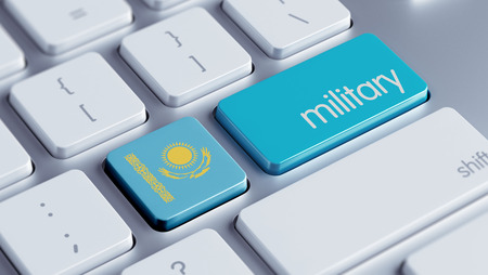 major force: Kazakhstan High Resolution Military Concept Stock Photo